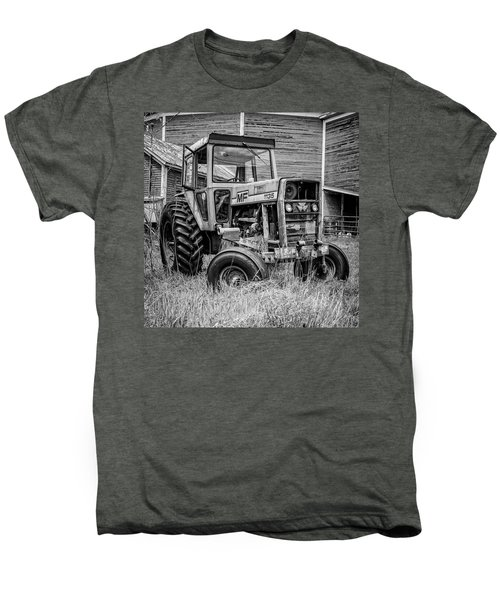 Old Vintage Tractor On A Farm In New Hampshire Square Men's Premium T-Shirt