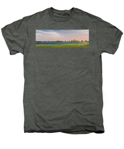 Panorama Of A Bluebonnet Field In Chappell Hill Washington County - Brenham Texas Men's Premium T-Shirt