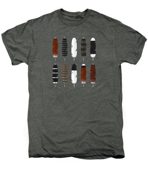 Raptor Feathers - Panoramic Men's Premium T-Shirt