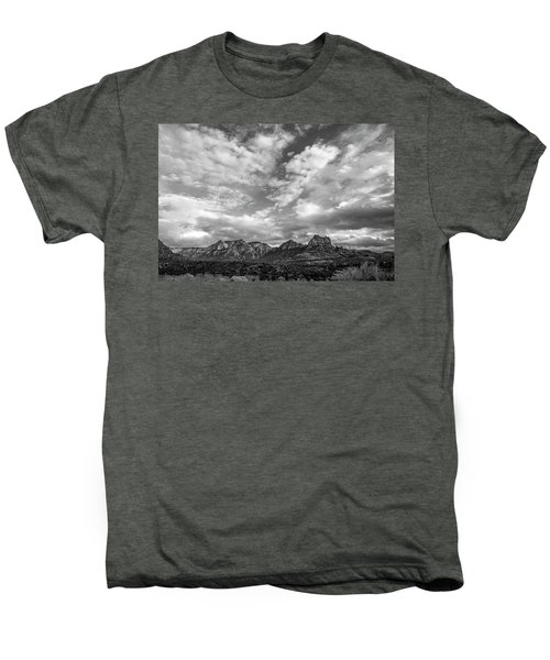 Sedona Red Rock Country Bnw Arizona Landscape 0986 Men's Premium T-Shirt by David Haskett