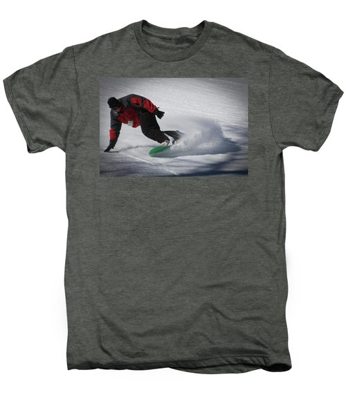 Men's Premium T-Shirt featuring the photograph Snowboarder On Mccauley by David Patterson