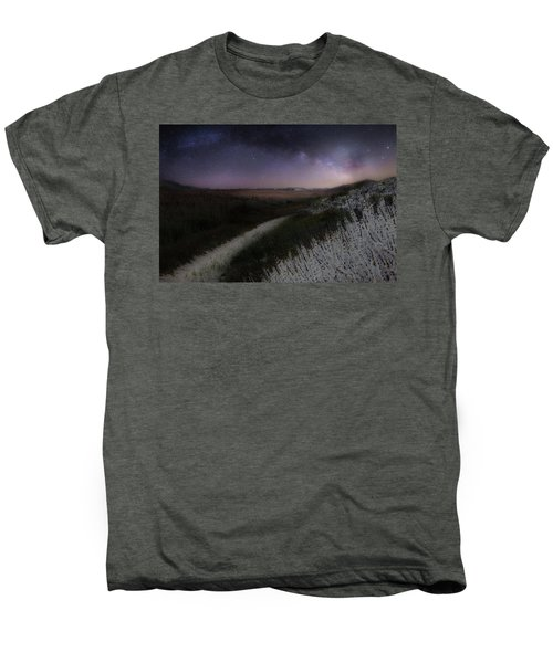 Men's Premium T-Shirt featuring the photograph Star Flowers by Bill Wakeley