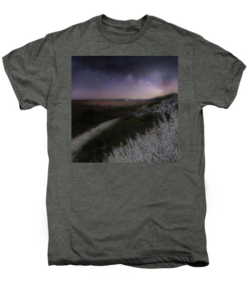 Men's Premium T-Shirt featuring the photograph Star Flowers Square by Bill Wakeley