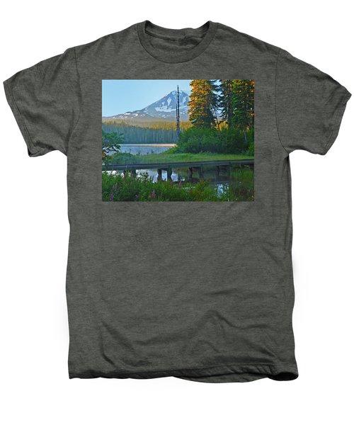 Sunrise At Takhlakh Lake Under Mt Adams Men's Premium T-Shirt