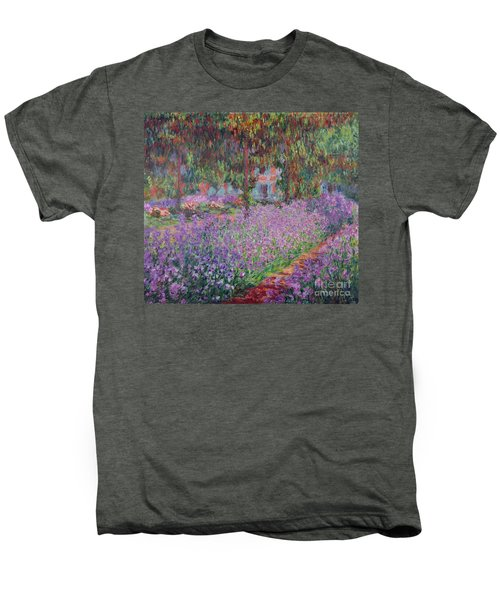 The Artists Garden At Giverny Men's Premium T-Shirt