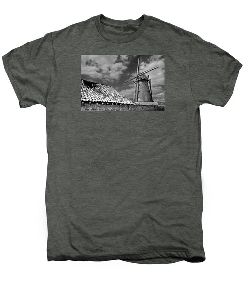 The Old Windmill Men's Premium T-Shirt by Jeremy Lavender Photography