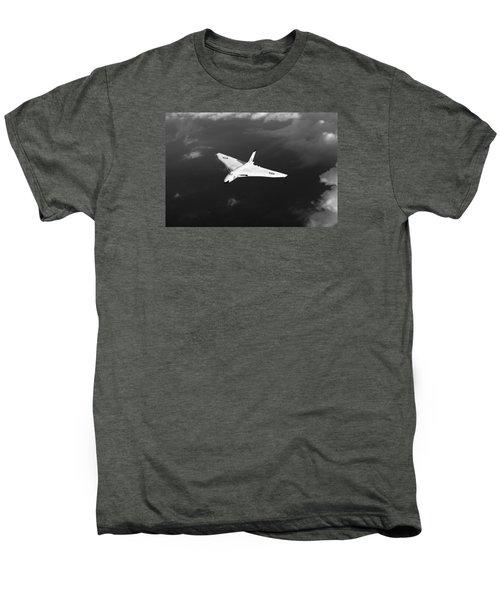 Men's Premium T-Shirt featuring the digital art White Vulcan B1 At Altitude Black And White Version by Gary Eason