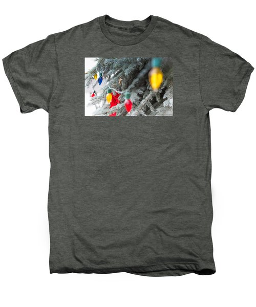Wrap A Tree In Color Men's Premium T-Shirt by Lora Lee Chapman