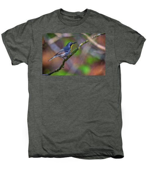 Yellow-throated Warbler Men's Premium T-Shirt by Rick Berk
