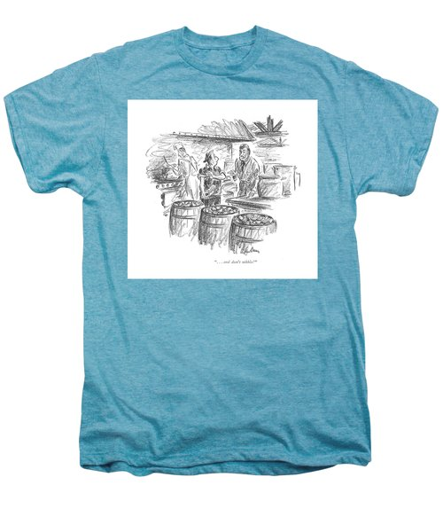 . . . And Don't Nibble! Men's Premium T-Shirt by Alan Dunn