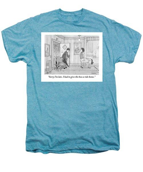 A Male Centaur Men's Premium T-Shirt