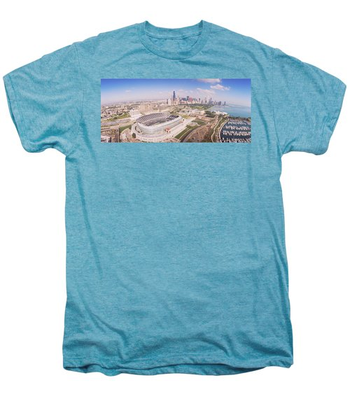 Aerial View Of A Stadium, Soldier Men's Premium T-Shirt by Panoramic Images