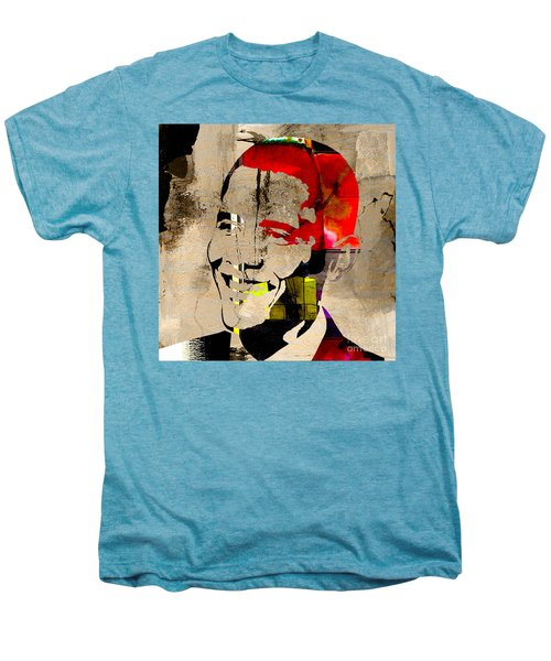 Men's Premium T-Shirt featuring the photograph Barack Obama by Marvin Blaine