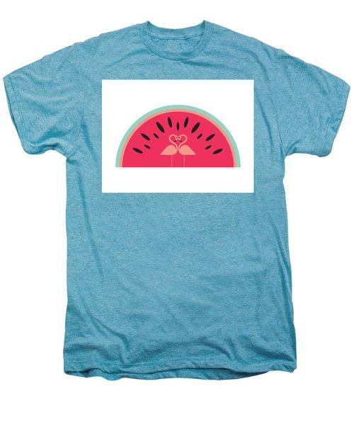 Flamingo Watermelon Men's Premium T-Shirt by Susan Claire