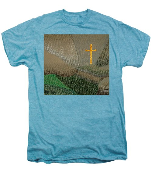 Men's Premium T-Shirt featuring the drawing Depression And The Saviour by Rod Ismay