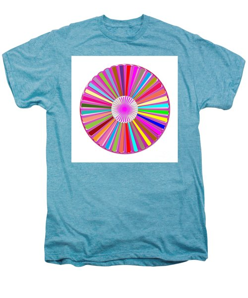 Colorful Signature Art Chakra Round Mandala By Navinjoshi At Fineartamerica.com Rare Fineart Images  Men's Premium T-Shirt by Navin Joshi