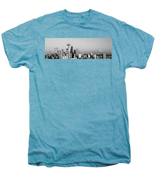Skyline, Seattle, Washington State, Usa Men's Premium T-Shirt by Panoramic Images