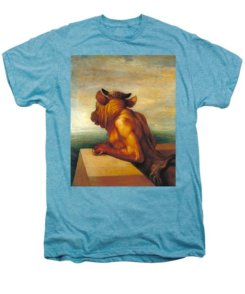 The Minotaur Men's Premium T-Shirt by George Frederic Watts