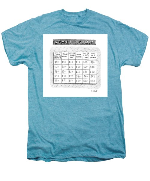Insomnia Jeopardy Men's Premium T-Shirt by Roz Chast
