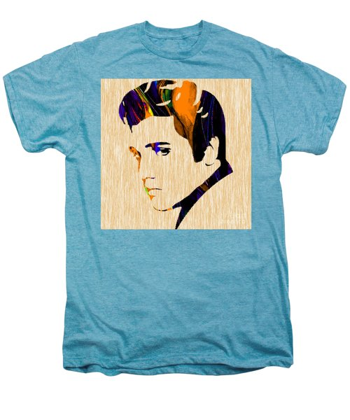 Men's Premium T-Shirt featuring the mixed media Elvis by Marvin Blaine