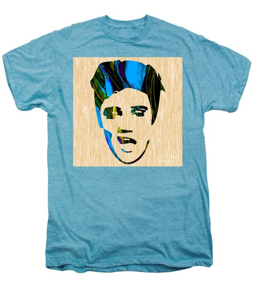 Men's Premium T-Shirt featuring the mixed media Elvis Presley by Marvin Blaine