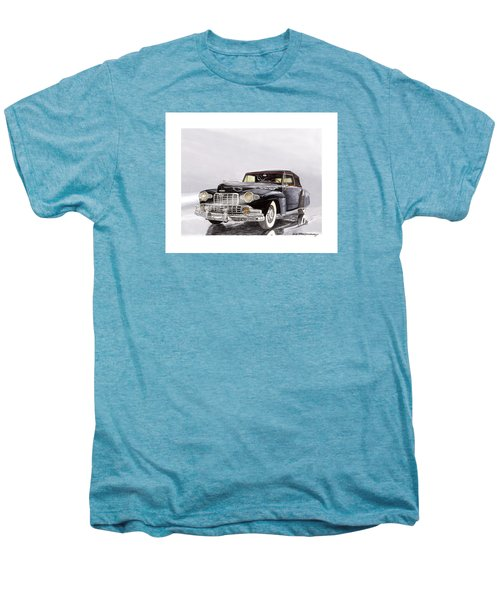 1946 Lincoln Continental Convertible Foggy Reflection Men's Premium T-Shirt by Jack Pumphrey
