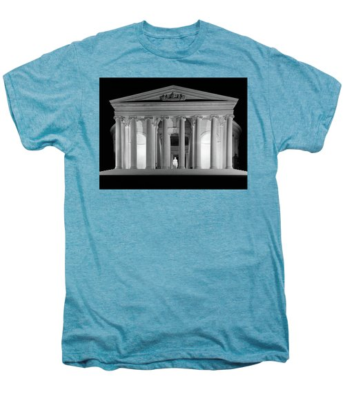 1960s Thomas Jefferson Memorial Lit Men's Premium T-Shirt