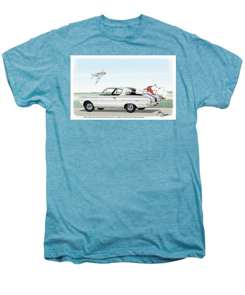 1965 Barracuda  Classic Plymouth Muscle Car Men's Premium T-Shirt by John Samsen