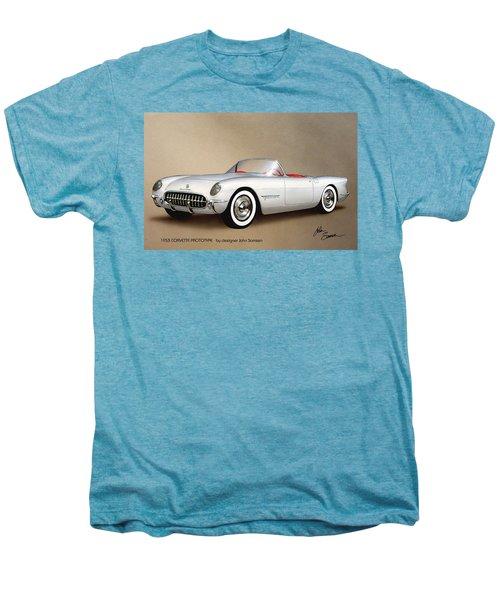 1953 Corvette Classic Vintage Sports Car Automotive Art Men's Premium T-Shirt