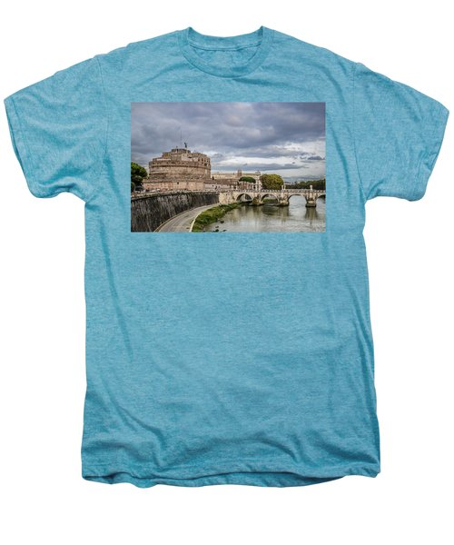 Castle St Angelo In Rome Italy Men's Premium T-Shirt
