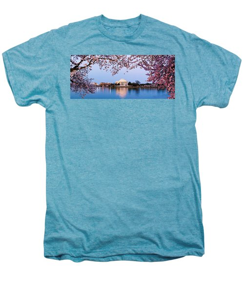 Cherry Blossom Tree With A Memorial Men's Premium T-Shirt