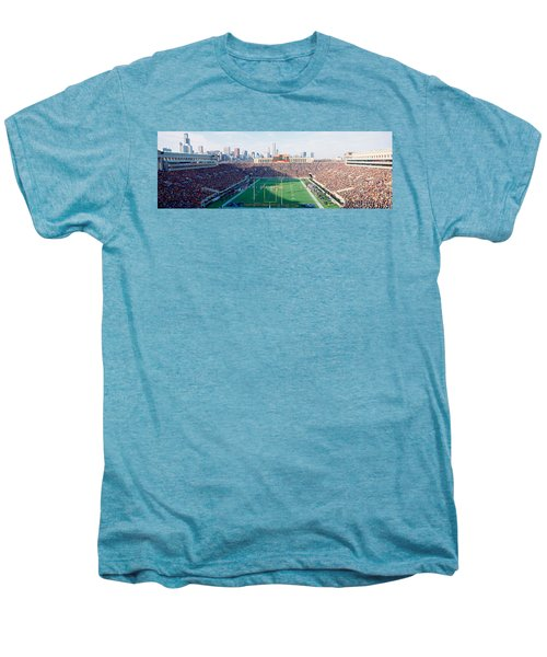 High Angle View Of Spectators Men's Premium T-Shirt by Panoramic Images
