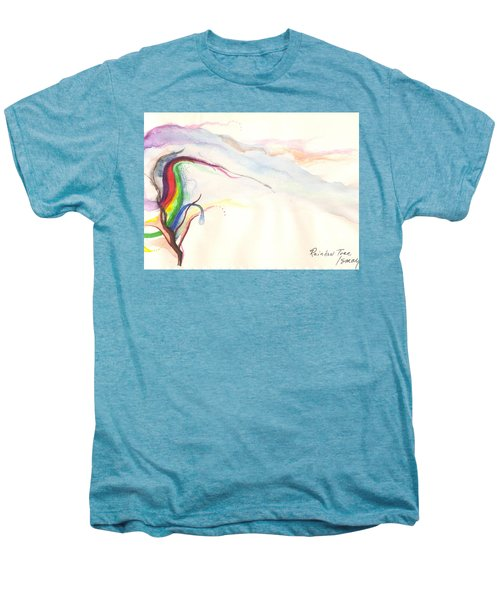 Men's Premium T-Shirt featuring the painting Rainbow Tree by Rod Ismay