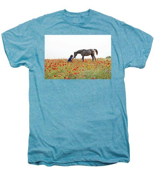Three At The Poppies' Field... 4 Men's Premium T-Shirt by Dubi Roman