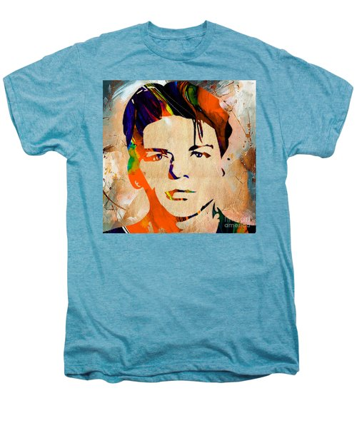 Men's Premium T-Shirt featuring the mixed media Frank Sinatra Art by Marvin Blaine