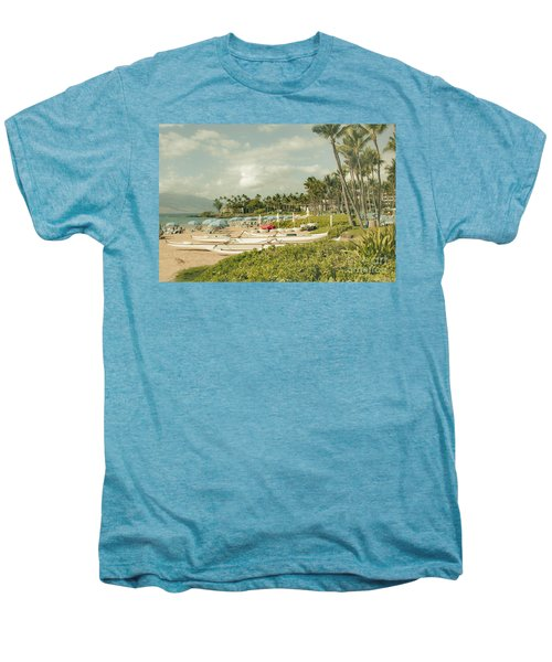 Wailea Beach Maui Hawaii Men's Premium T-Shirt by Sharon Mau