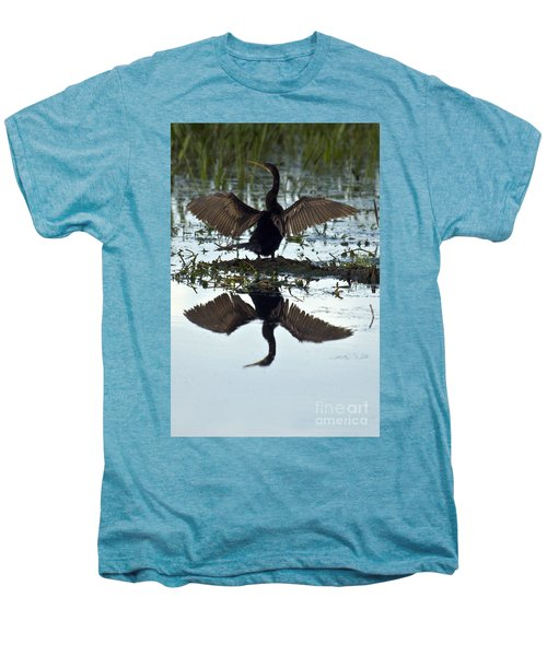 Anhinga Men's Premium T-Shirt by Mark Newman