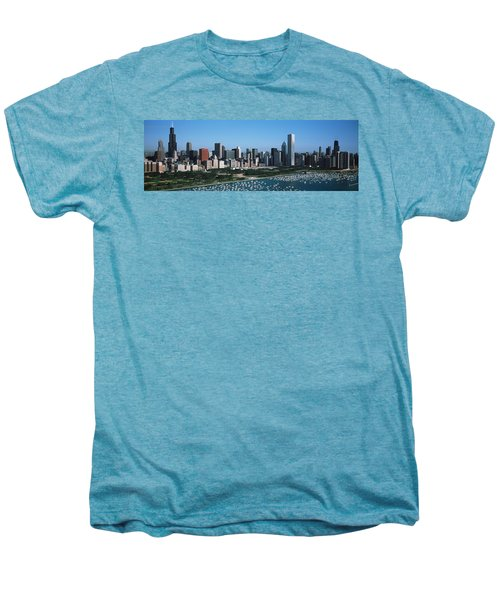Aerial View Of Buildings In A City Men's Premium T-Shirt
