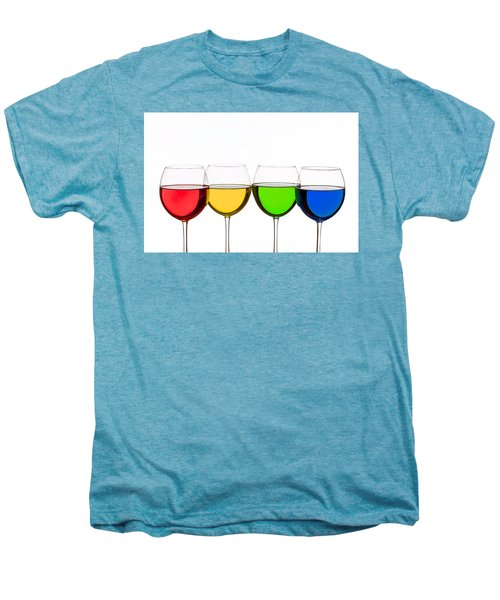 Colorful Wine Glasses Men's Premium T-Shirt