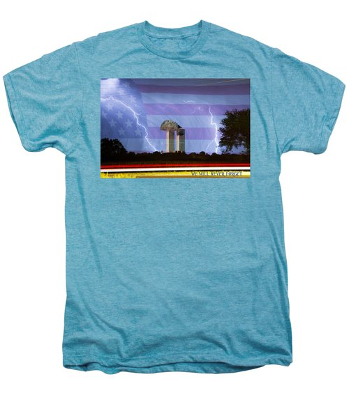 9-11 We Will Never Forget 2011 Poster Men's Premium T-Shirt