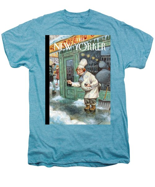 A Chef Lightly Pinches Salt On The Sidewalk Men's Premium T-Shirt