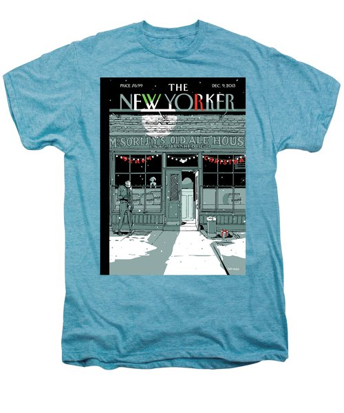 A Holiday Scene Outside The Bar Mcsorley's Men's Premium T-Shirt