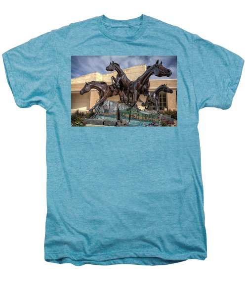A Monument To Freedom Men's Premium T-Shirt by Joan Carroll