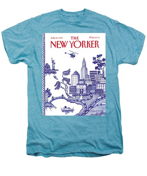 A View Of New York City Men's Premium T-Shirt