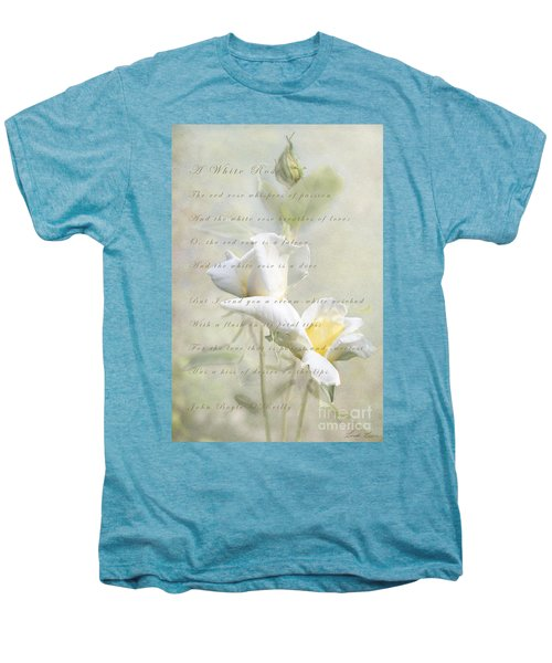 A White Rose Men's Premium T-Shirt by Linda Lees