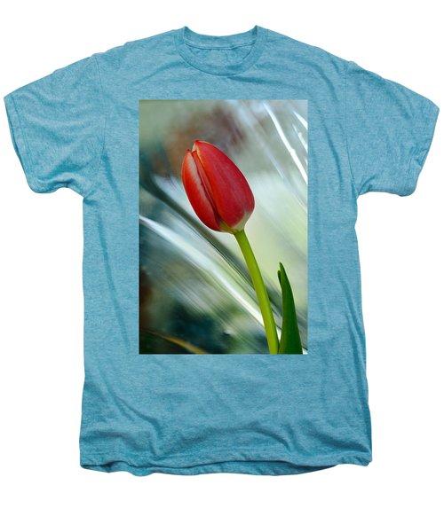 Abstract Tulip Under Glass Men's Premium T-Shirt