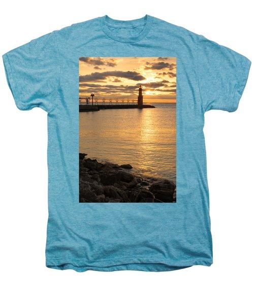 Across The Harbor Men's Premium T-Shirt by Bill Pevlor