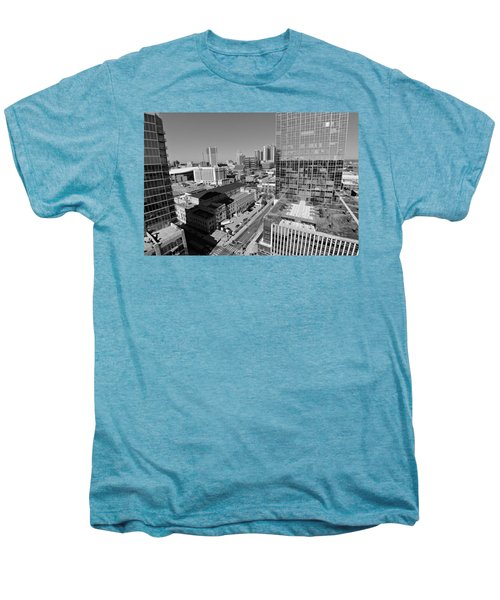 Aerial Photography Downtown Nashville Men's Premium T-Shirt by Dan Sproul