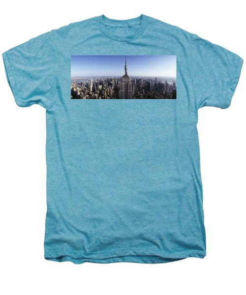 Aerial View Of A Cityscape, Empire Men's Premium T-Shirt by Panoramic Images