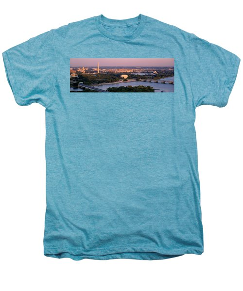 Aerial, Washington Dc, District Of Men's Premium T-Shirt by Panoramic Images